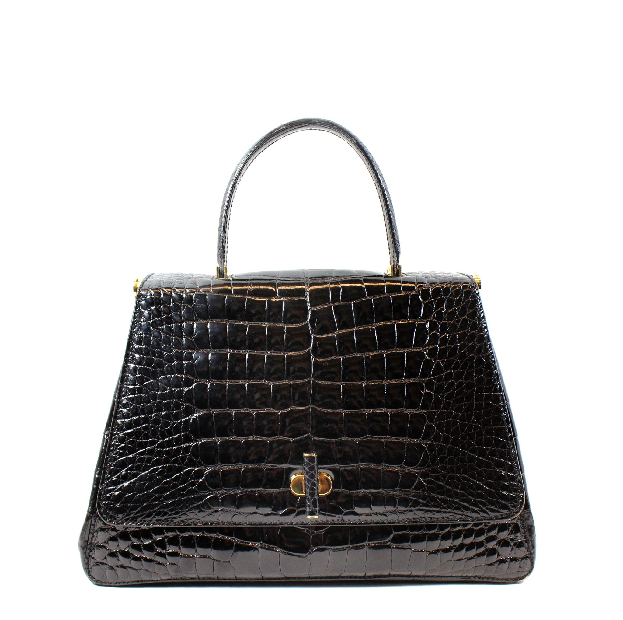 Suarez Black Alligator Tote