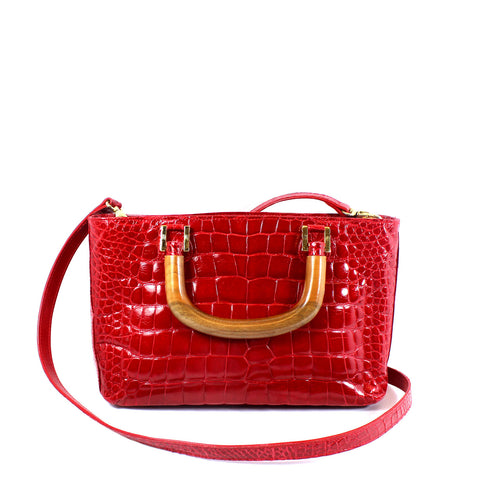 Lana Marks Red Crocodile Bag - Encore Consignment - 1