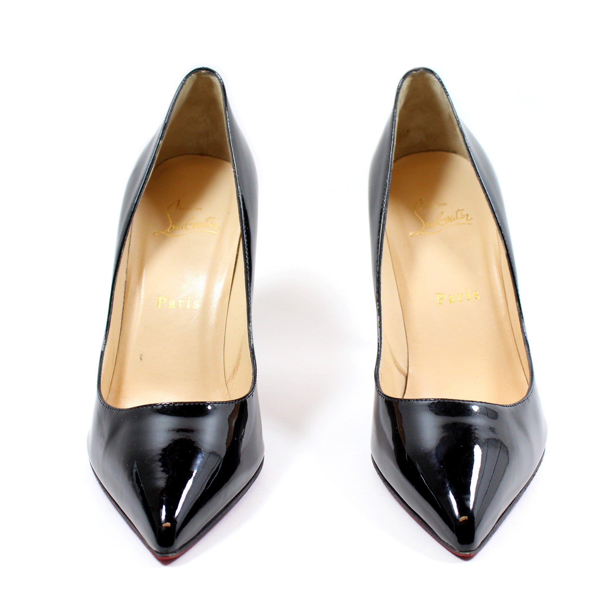 Christian Louboutin 'Pigalle 100' Black Patent Leather Pumps (Size 38.5)