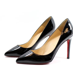Christian Louboutin 'Pigalle' Black Patent Leather Pumps (Size 38.5)