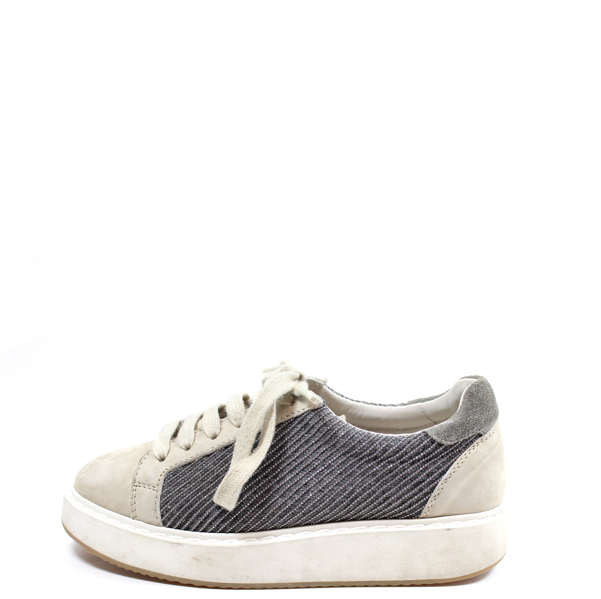 Brunello Cucinelli Suede Monili Beaded Sneakers (Size 36)