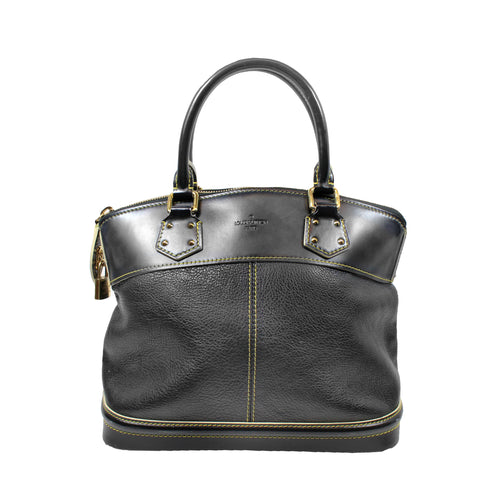 GUCCI Lady Tassel Black Grained Leather Top Handle Tote Bag Satchel $2,450