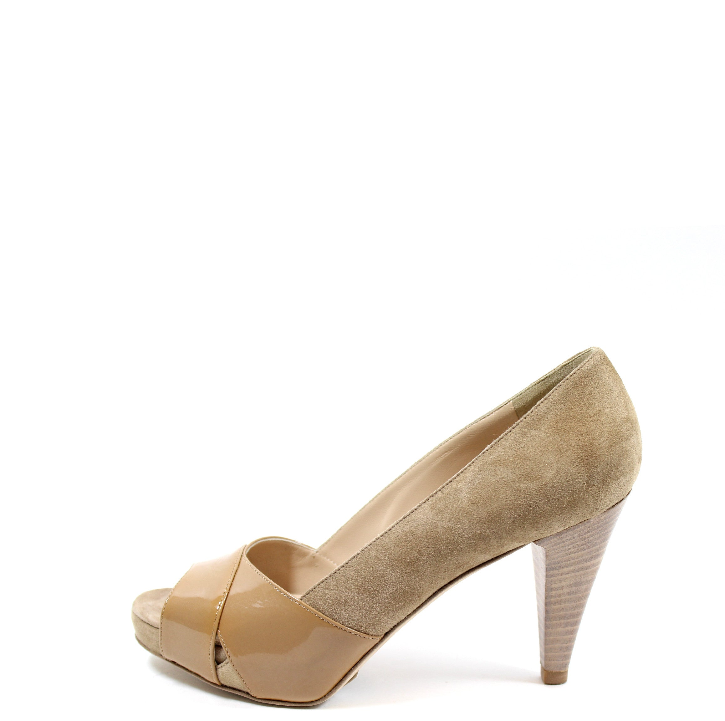829215b93bd Fendi Beige Suede and Patent Leather Pumps (Size 37.5) – Encore Resale.com