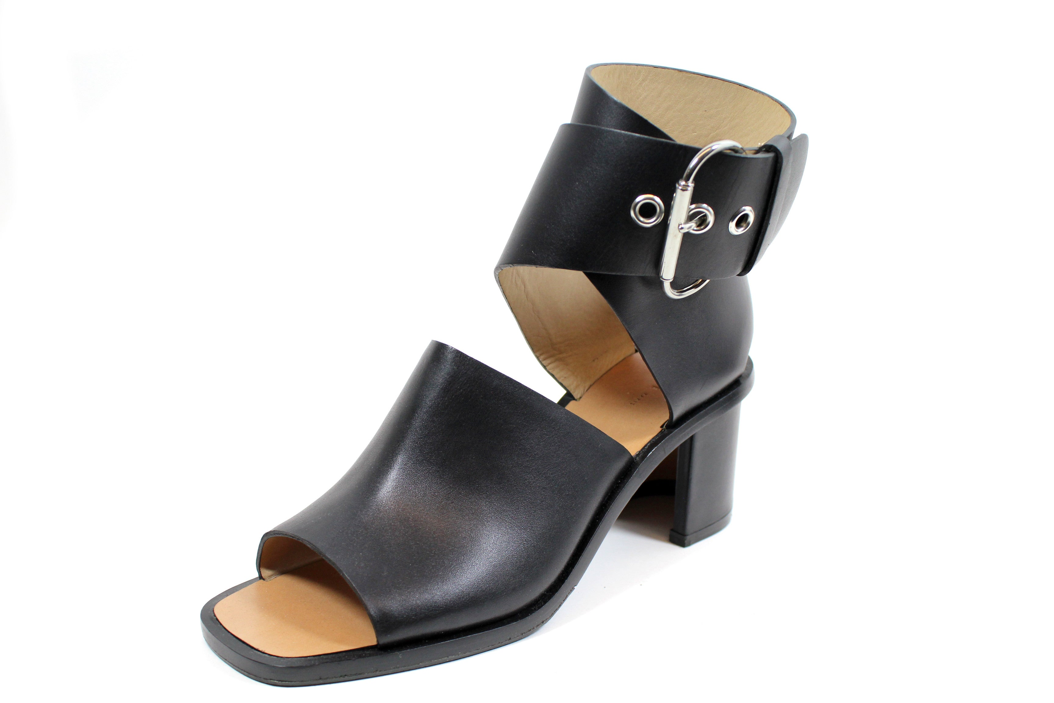 'SOLD' Céline Leather Cutout Wrap Sandal (Size 39)