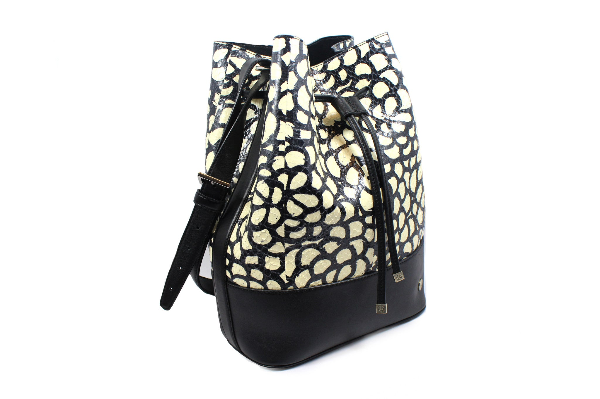 "Elisabeth Weinstock Chile ""Flower Elaphe"" Bucket Bag - Encore Consignment - 1"