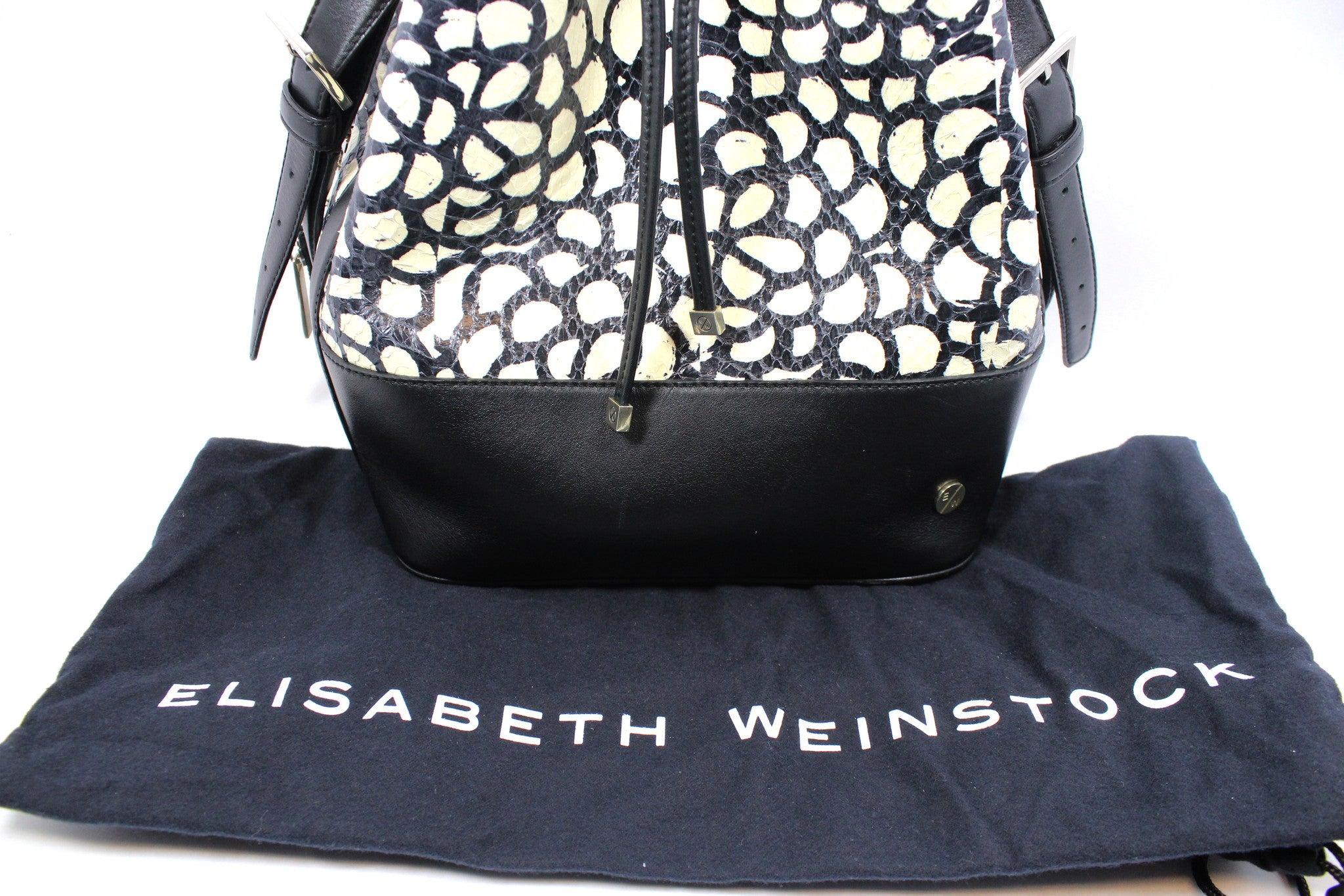 "Elisabeth Weinstock Chile ""Flower Elaphe"" Bucket Bag - Encore Consignment - 11"