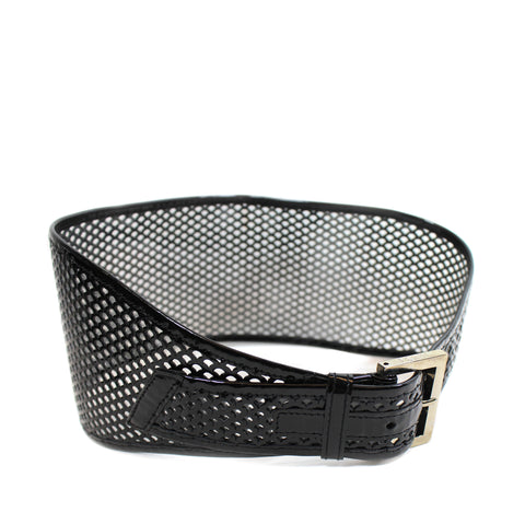 Fendi Patent Leather Perforated Waist Belt