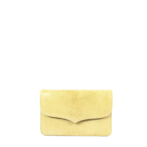 Lana of London Beige Lizard Shoulder Clutch - Encore Consignment - 14