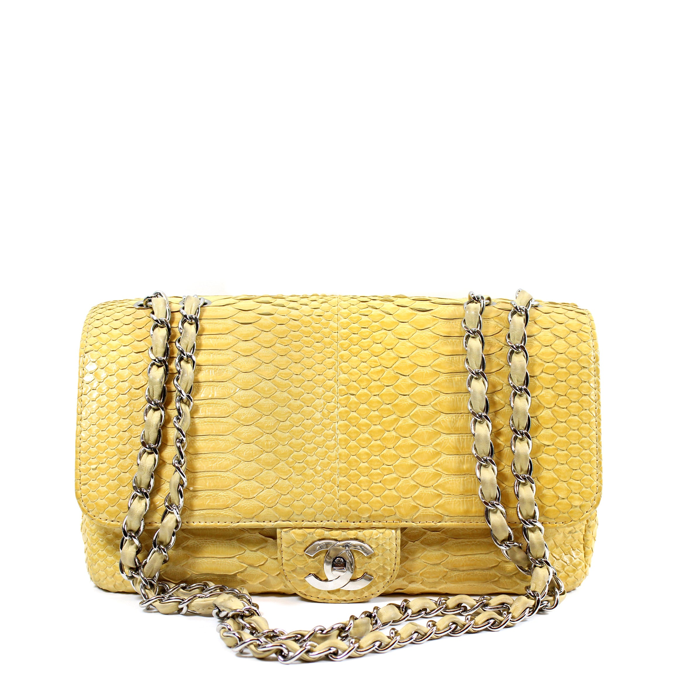 Chanel Yellow Python Bag