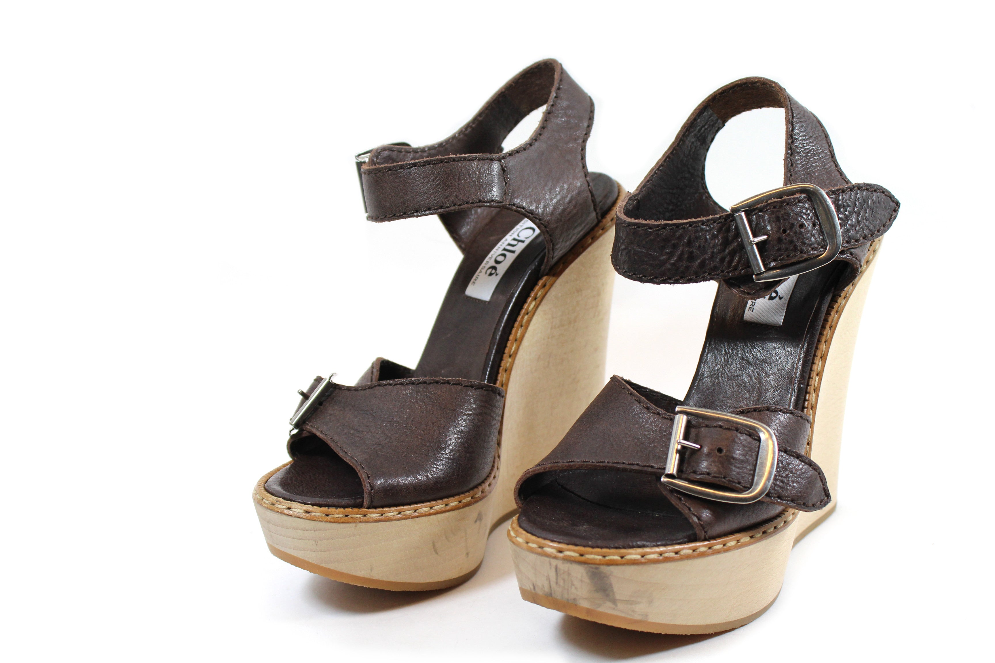 Chloé Patent Leather Buckle Wedge Sandals discount from china free shipping excellent real for sale outlet latest collections best store to get heqAQDA0pu