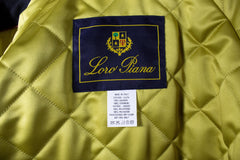 $4350 LORO PIANA Black Cashmere Storm System Front Zip Toggle Ski Jacket Parka Coat 42