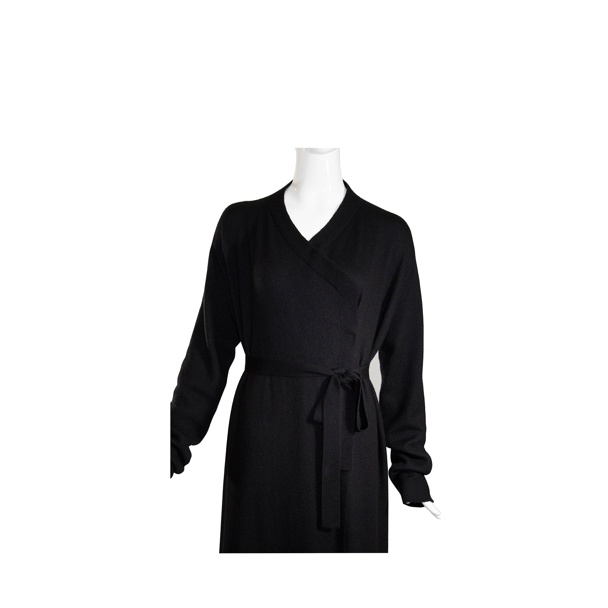 'Sold' RICK OWENS Walrus FW17 Black Cashmere Belted Bath Robe Cardigan Sweater L $2650