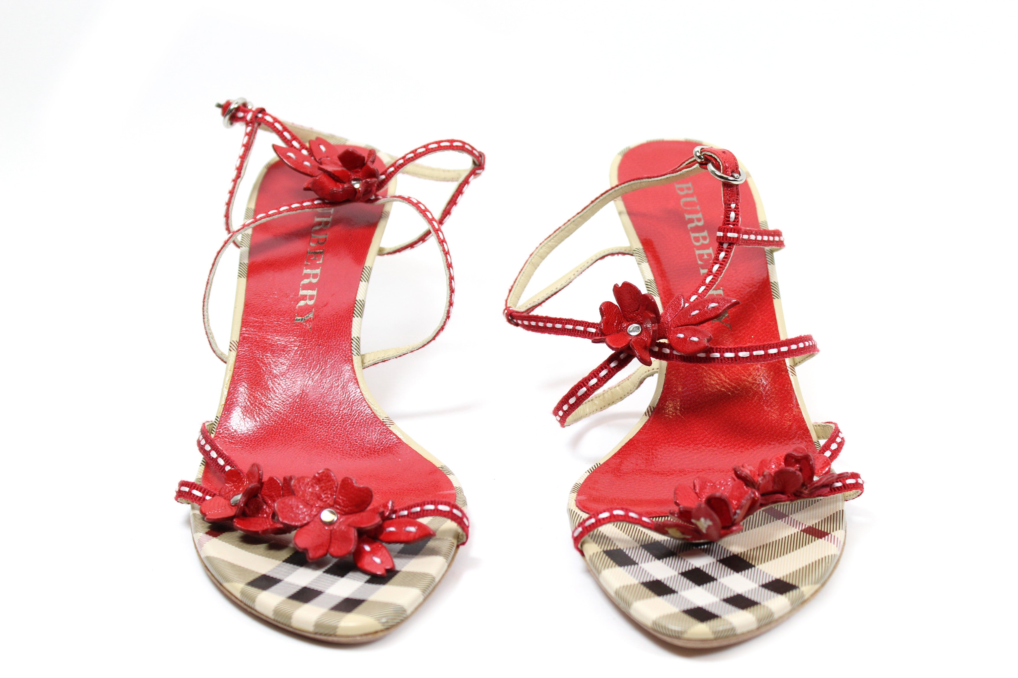Burberry Nova Check Sandals (Size 36.5)