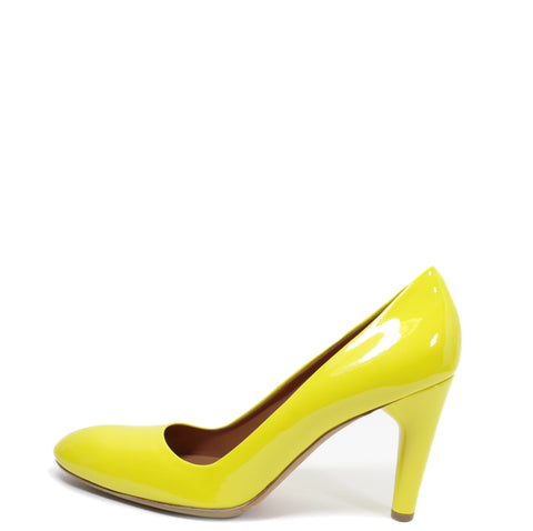 Céline Yellow Patent Leather Pumps (Size 39)