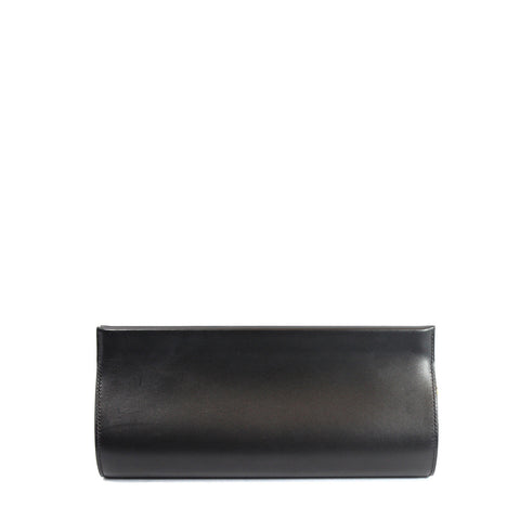 Hermes Black Leather Clutch - Encore Consignment - 1