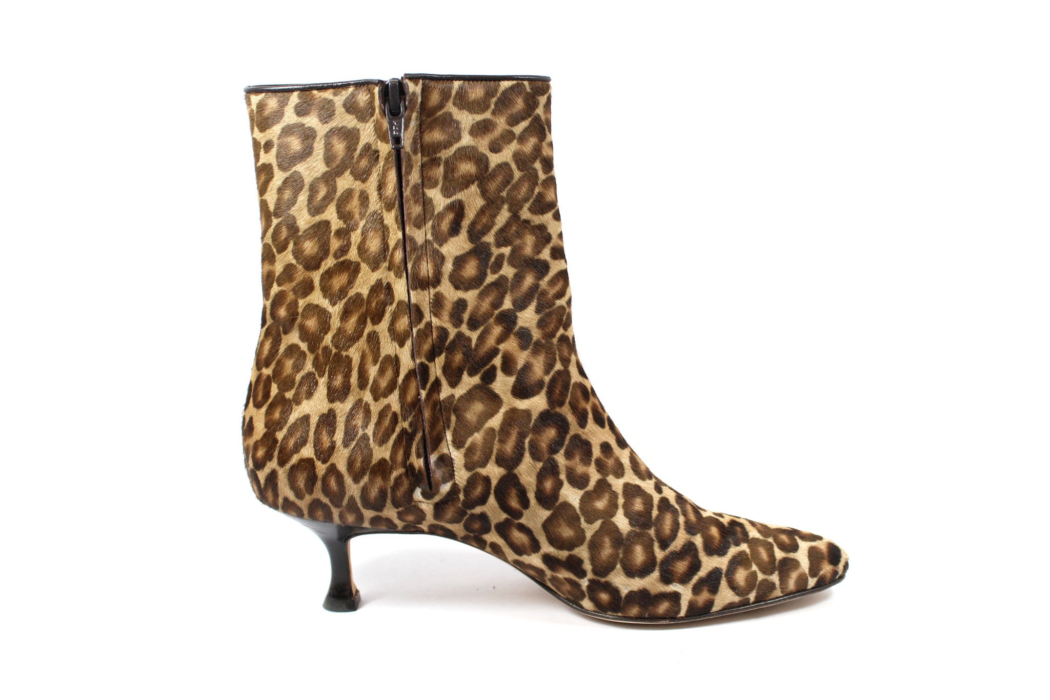Manolo Blahnik Leopard Calf Hair Ankle Boots (Size 38) - Encore Consignment - 6