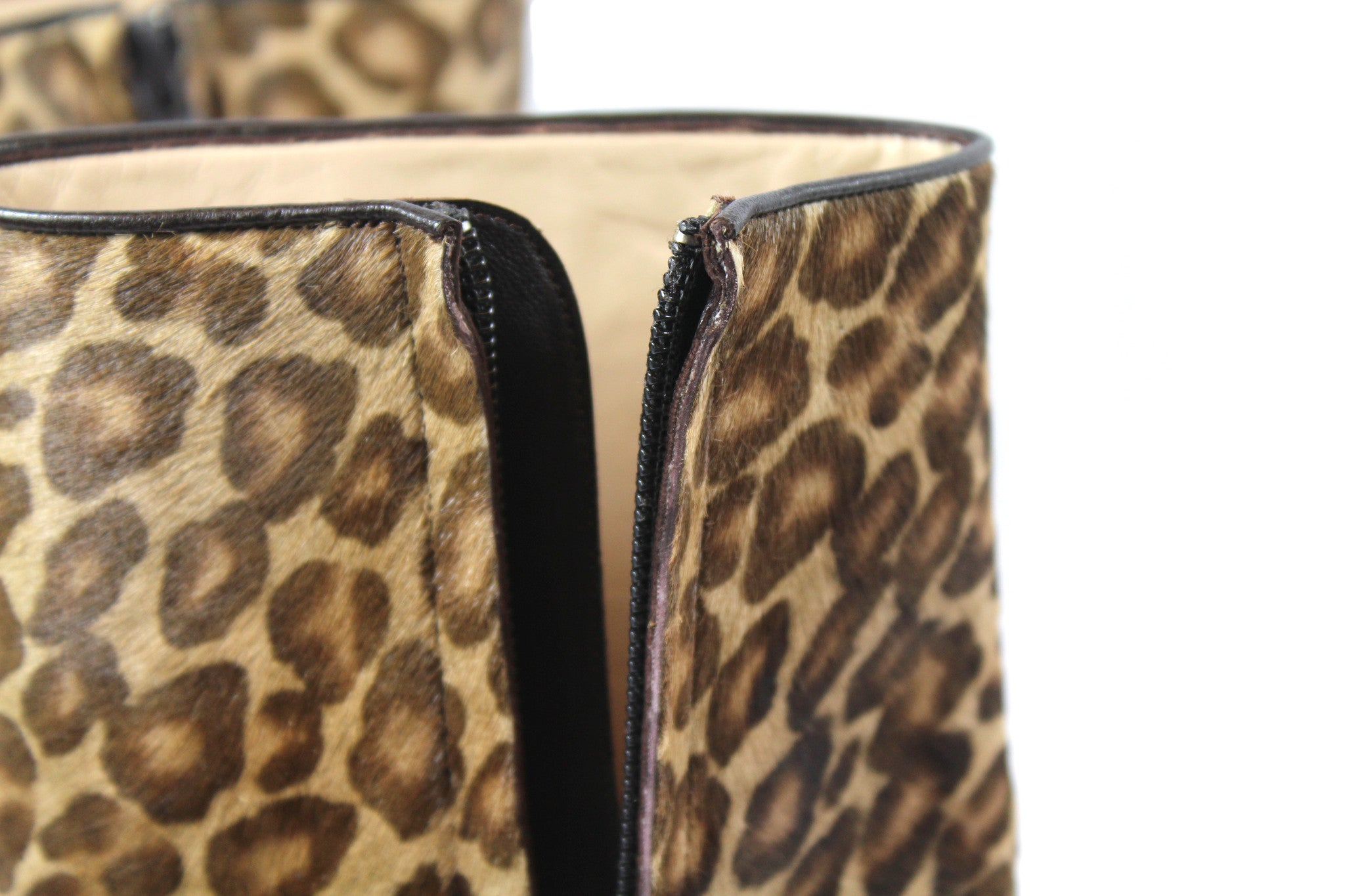 Manolo Blahnik Leopard Calf Hair Ankle Boots (Size 38) - Encore Consignment - 8