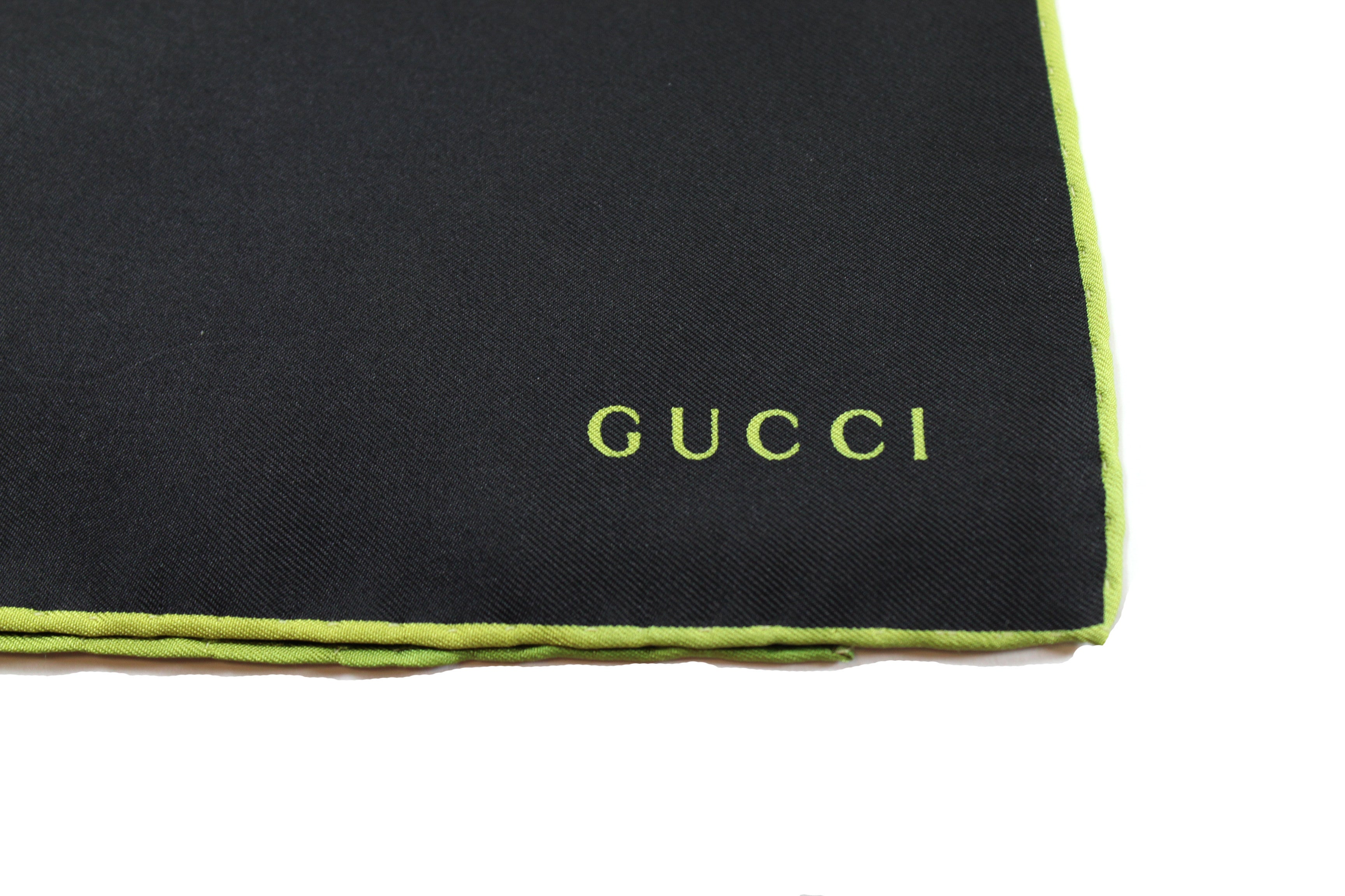 Gucci Black Silk Pocket Square