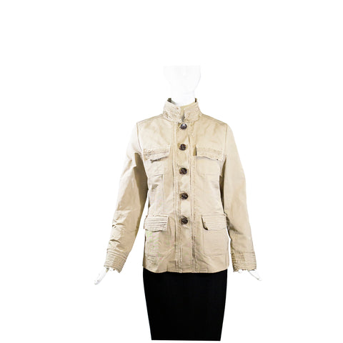 JANE POST Leopard Print Double Breasted Storm Trench Belted Coat Jacket S $695