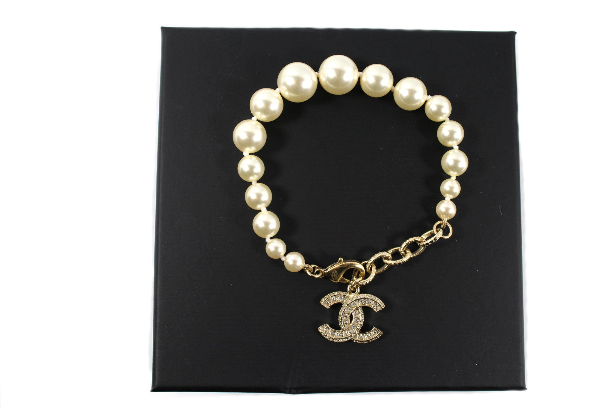Chanel Pearl and Swarovski Crystals Bracelet - Encore Consignment - 4