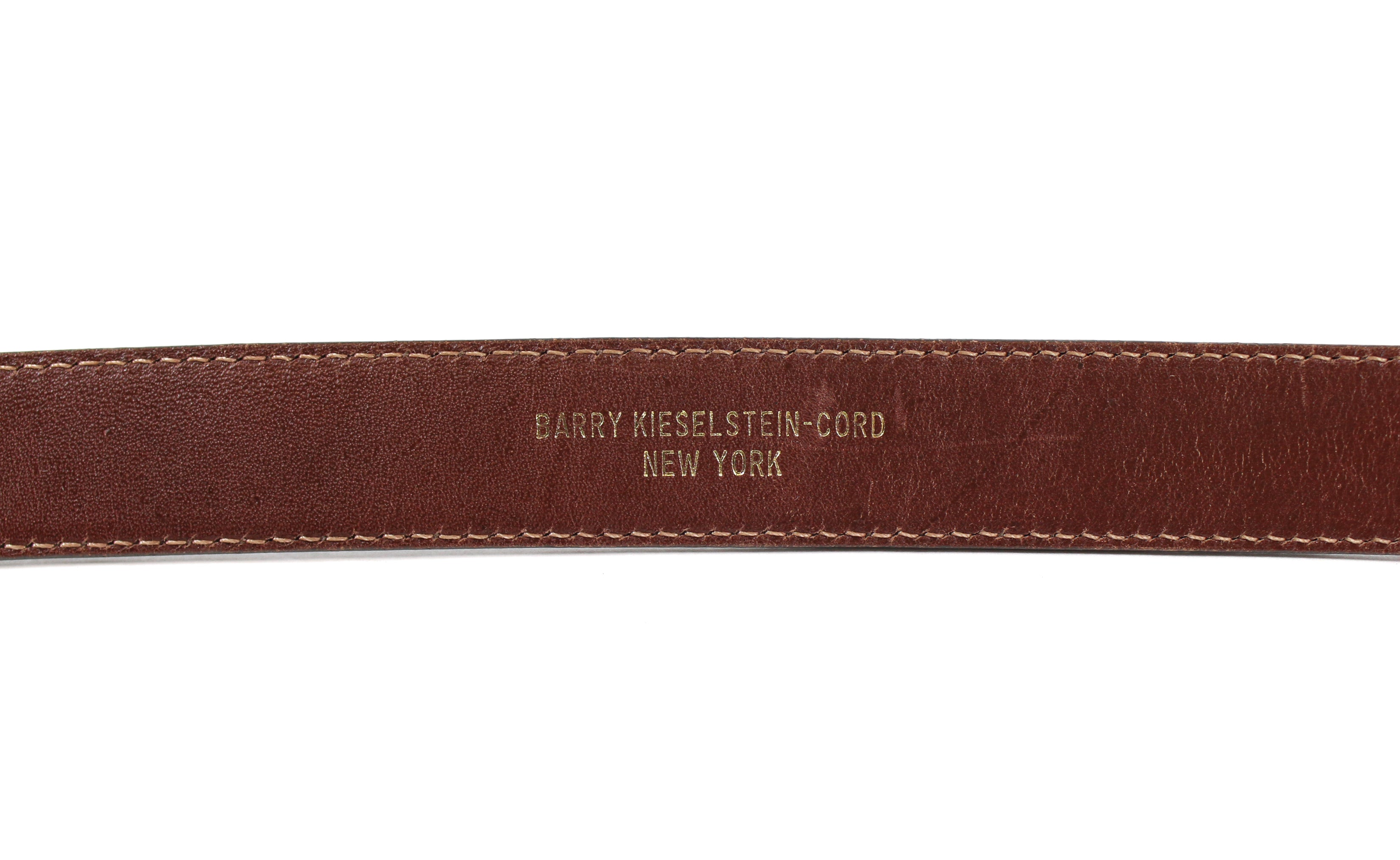 'Sold' Barry Kieselstein-Cord Elephant Buckle Dark Brown Alligator Belt
