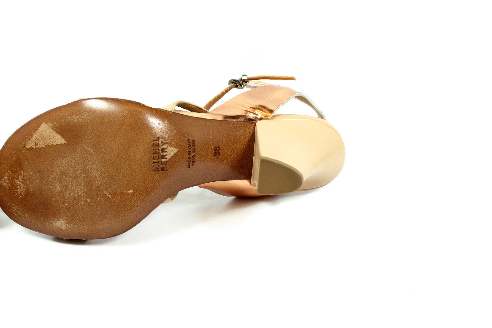 Mitchel Perry Copper Strap Sandals (Size 38) - Encore Consignment - 8