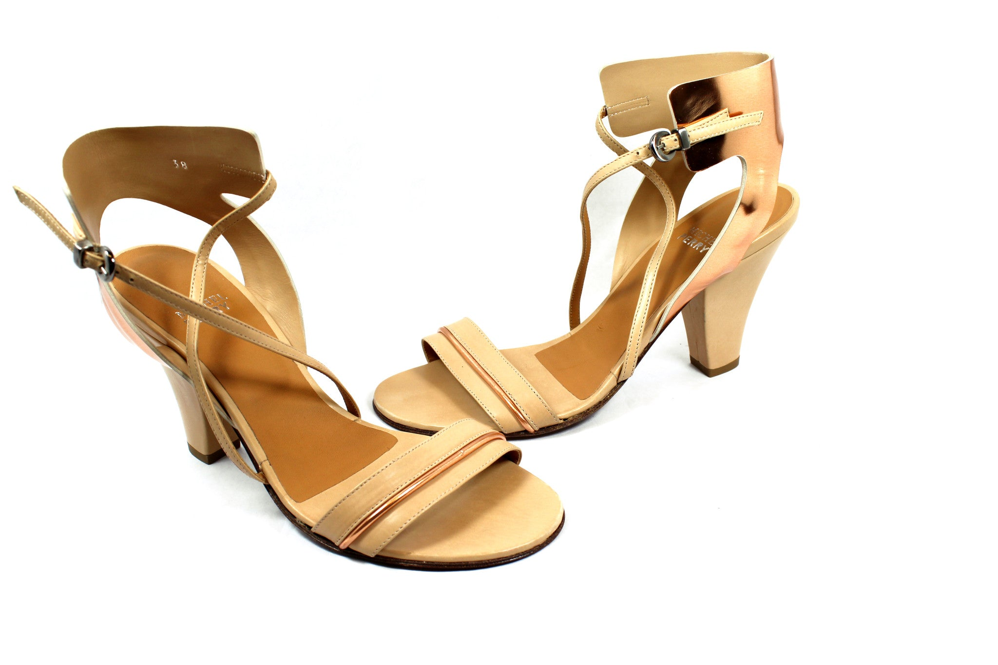 Mitchel Perry Copper Strap Sandals (Size 38) - Encore Consignment - 2