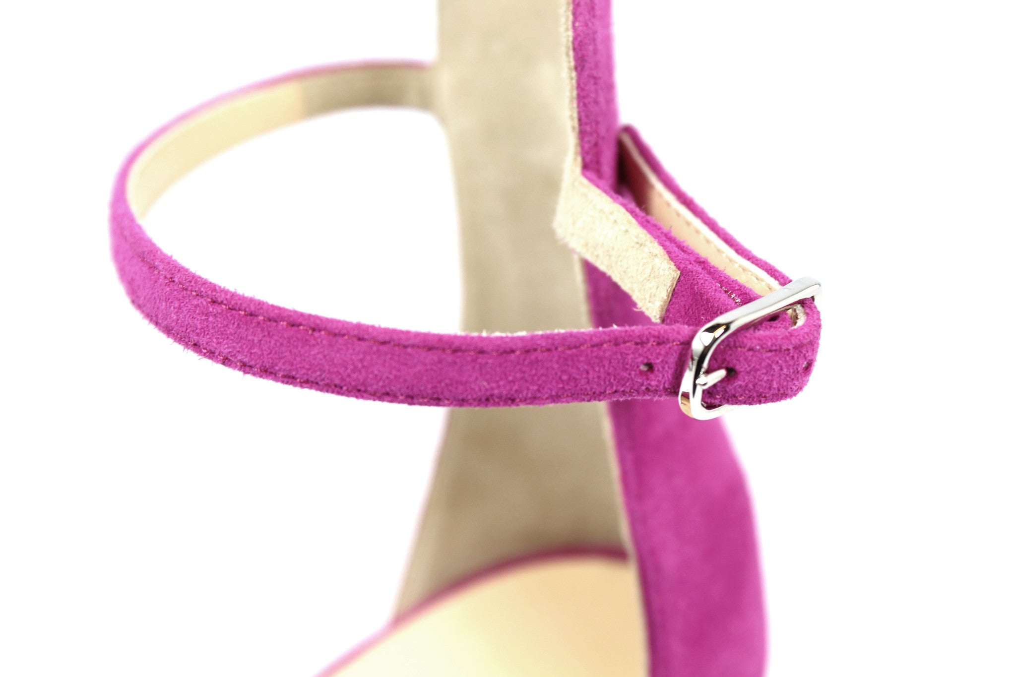 Barneys New York Fuchsia Suede Ankle Strap Sandals (Size 38.5) - Encore Consignment - 5