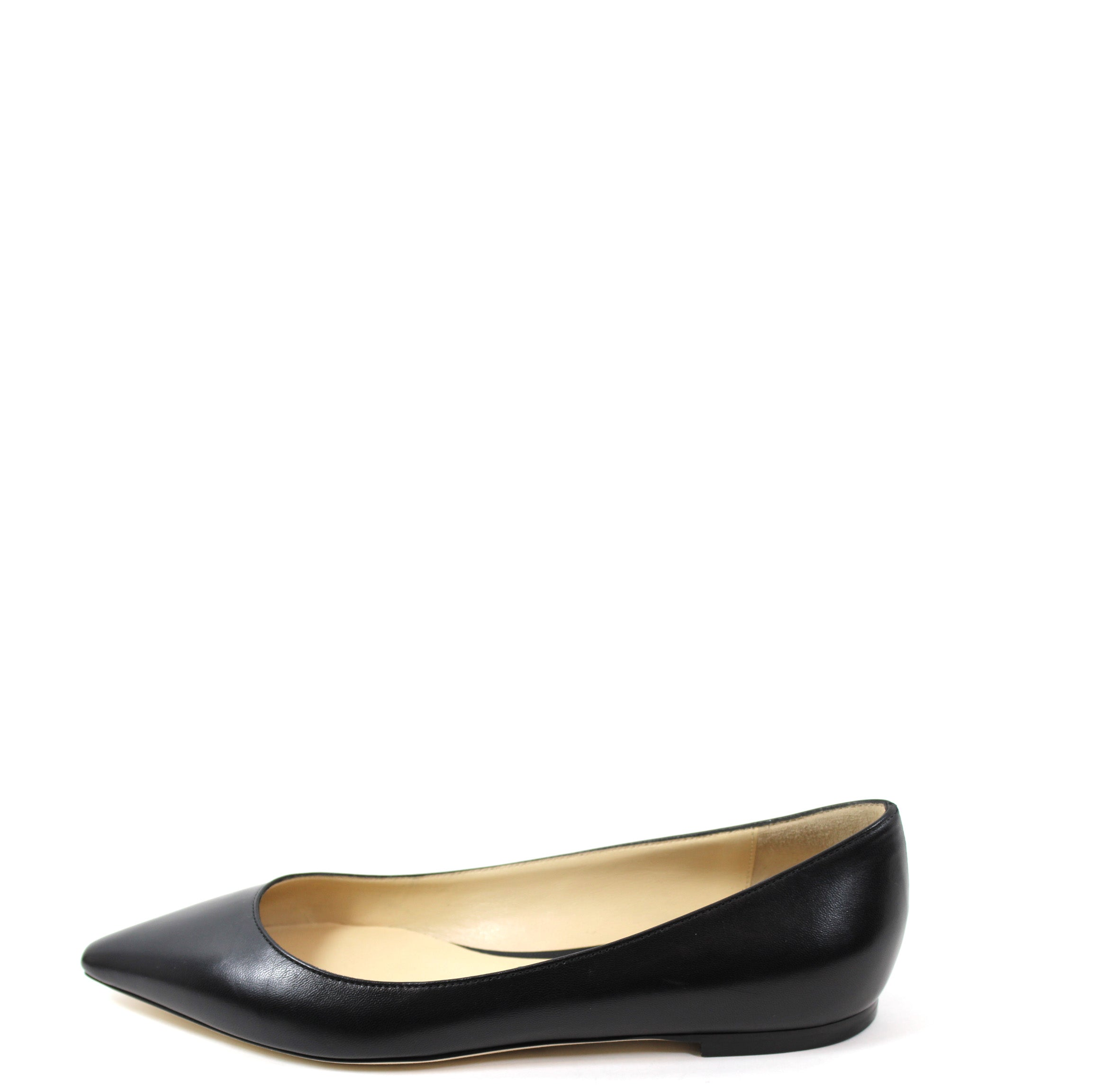 94d54eb903 Jimmy Choo 'Romy' Black Leather Flats (Size 37) – Encore Consignment