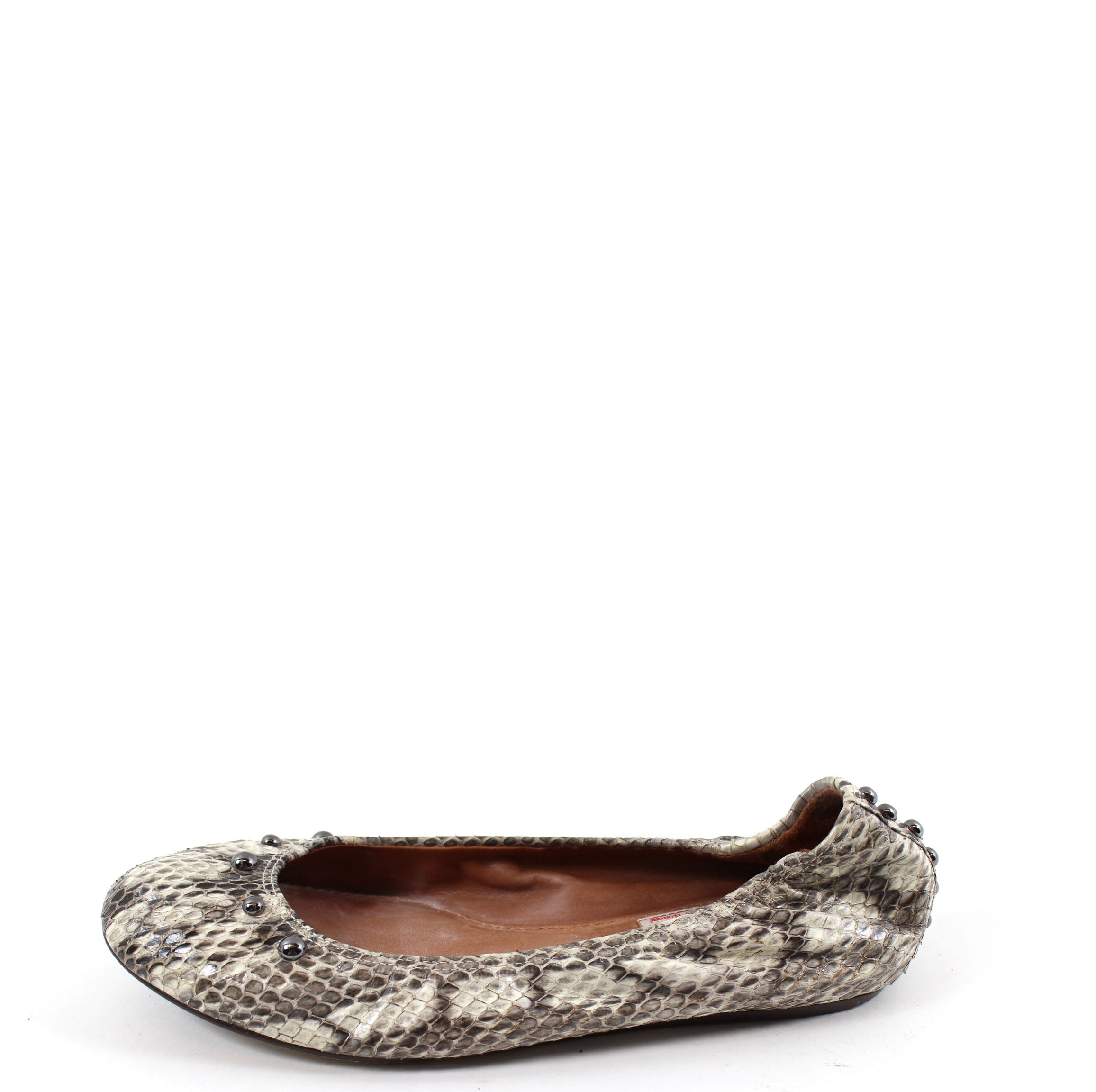 e1b30365b7c3 Lanvin Gray Shaded Snakeskin Ballet Flats (Size 37) – Encore Resale.com