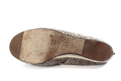 Lanvin Gray Shaded Snakeskin Ballet Flats (Size 37)