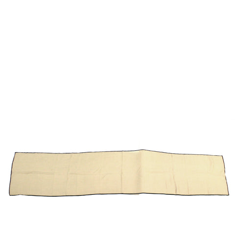 Loro Piana Beige Cashmere/Silk Scarf with Multi-Colored Piping