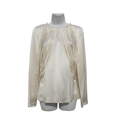 DOLCE&GABBANA White Stretch Cotton Poplin Classic Button Down Blouse Top 42 $545