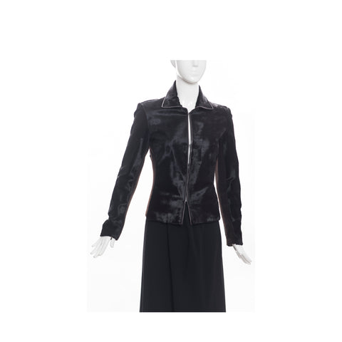 'Sold' CH CAROLINA HERRERA Black Double Breasted Twill Belted Trench Coat Jacket XS