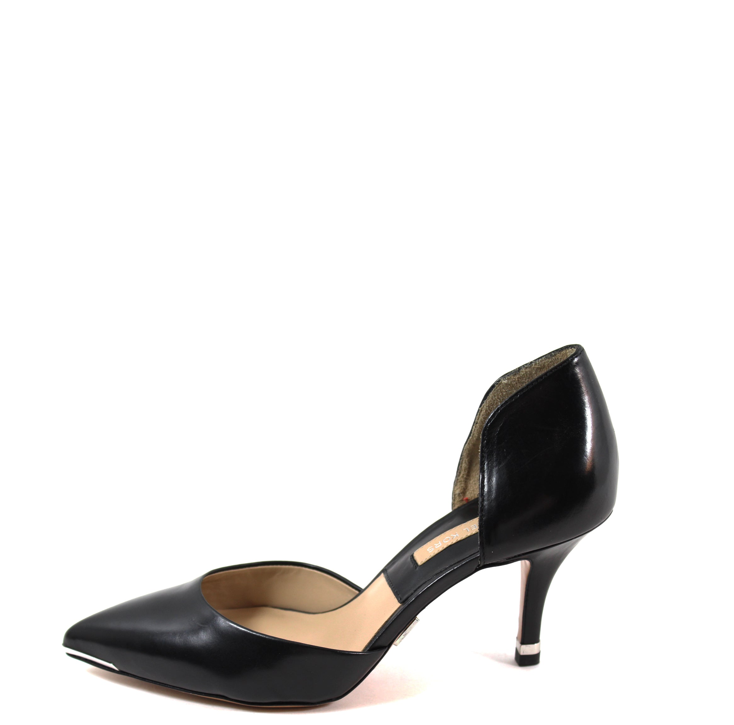 ef236d034d7b Michael Kors Black Leather d Orsay Pumps (Size 36) – Encore Resale.com