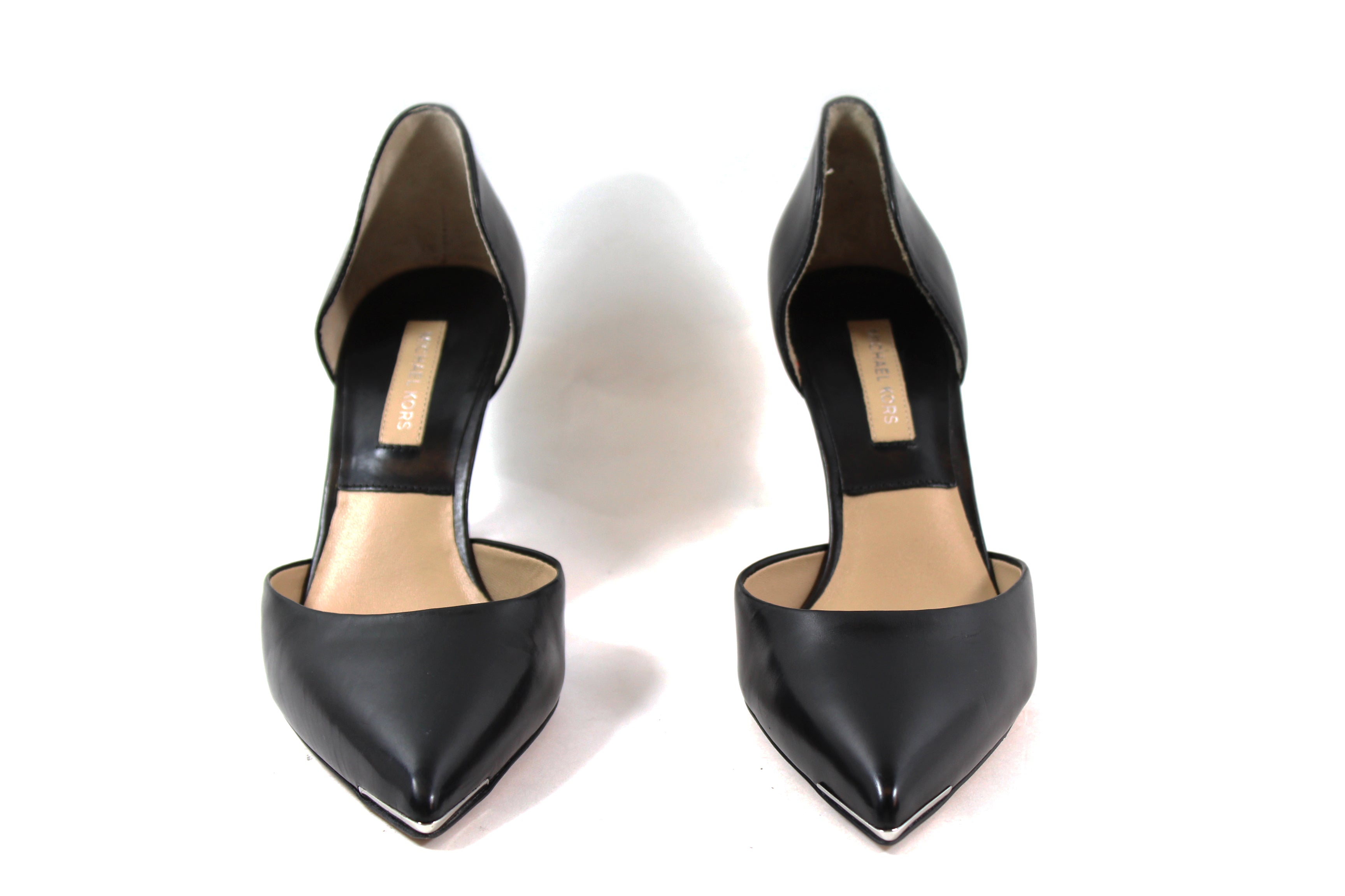 Michael Kors Black Leather d'Orsay Pumps (Size 36)