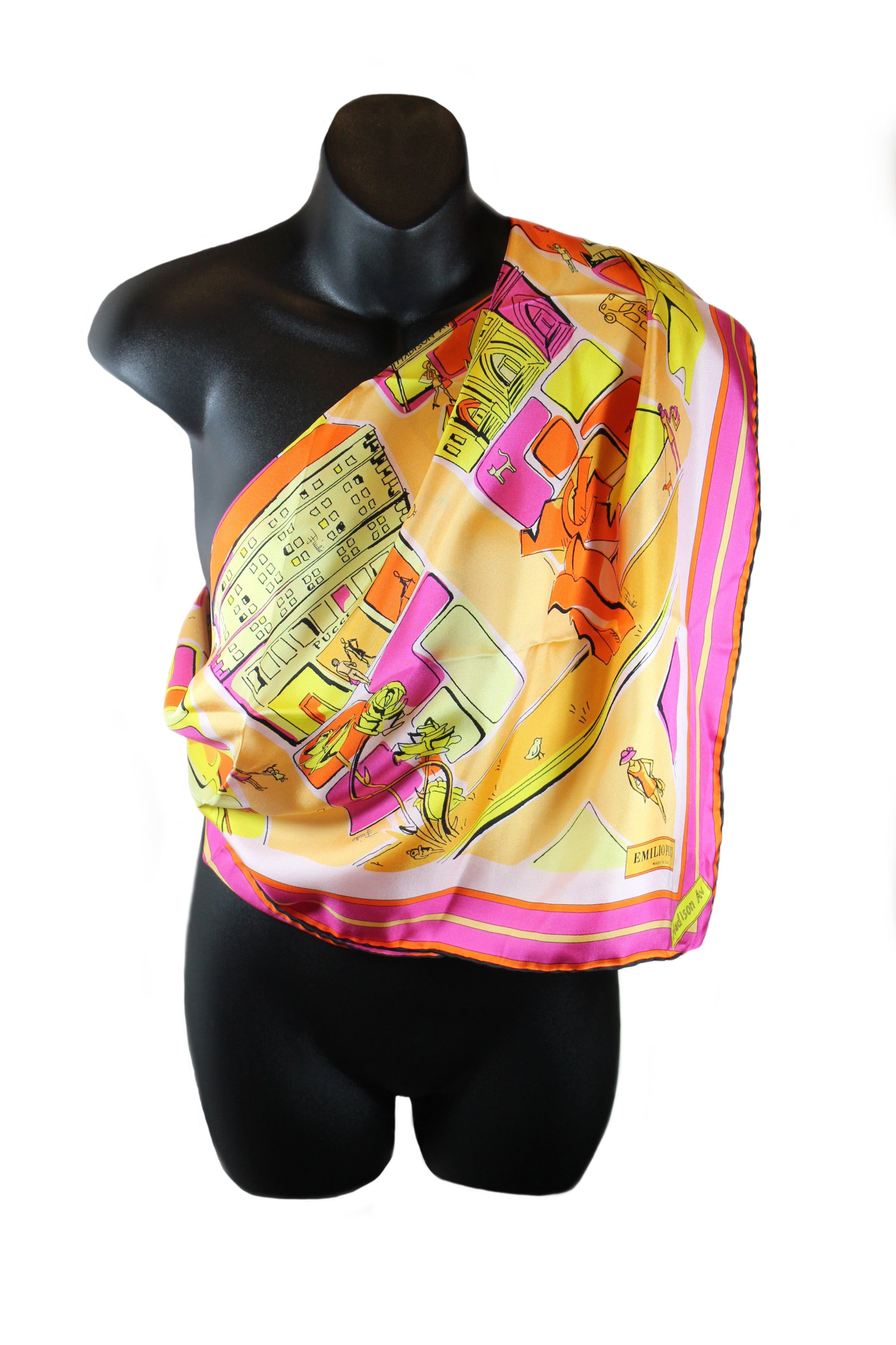 Emilio Pucci Madison Avenue Printed Silk Scarf
