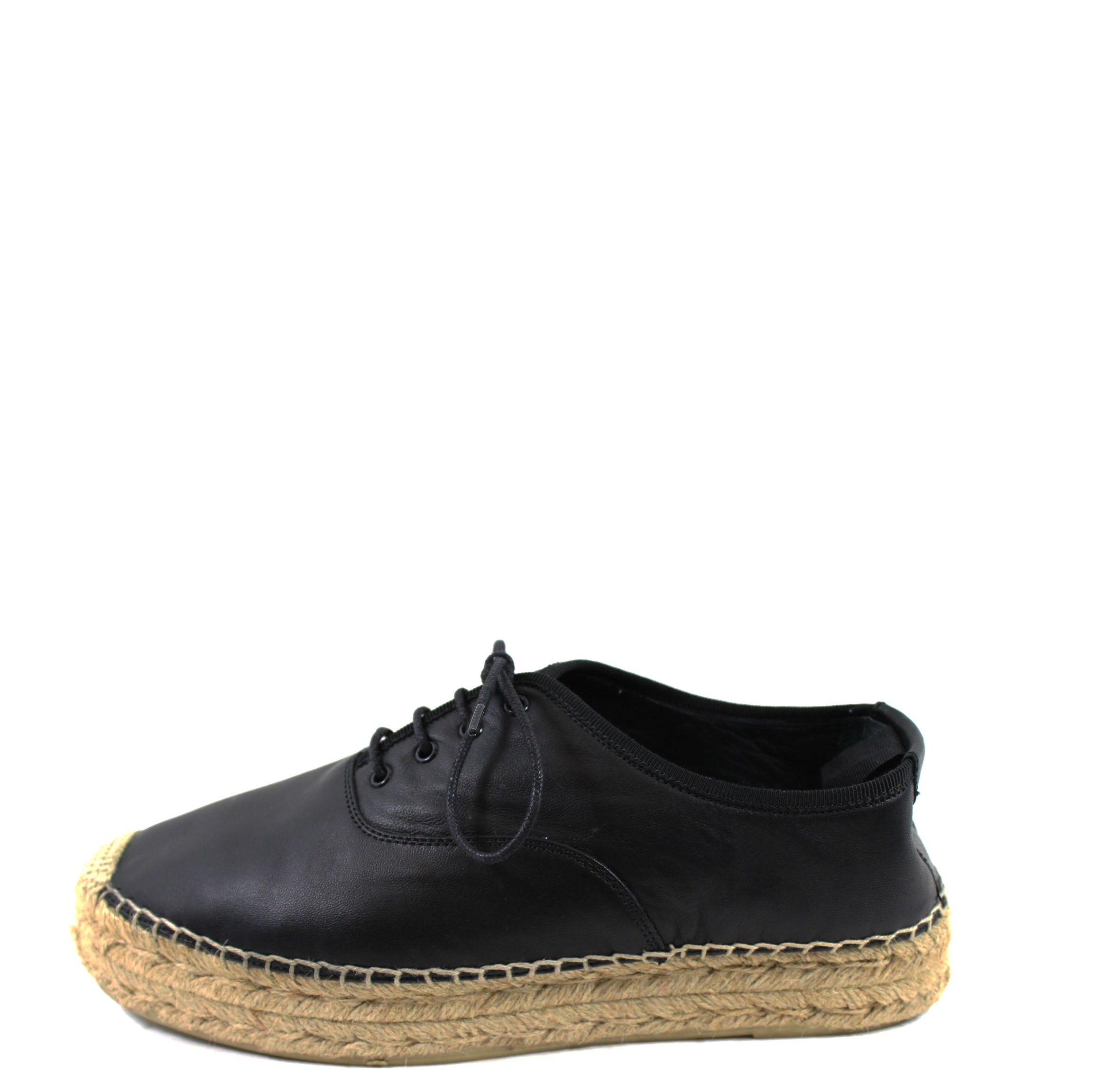 6e067324712 Saint Laurent Black Leather Lace-up Espadrilles (Size 39) – Encore  Resale.com
