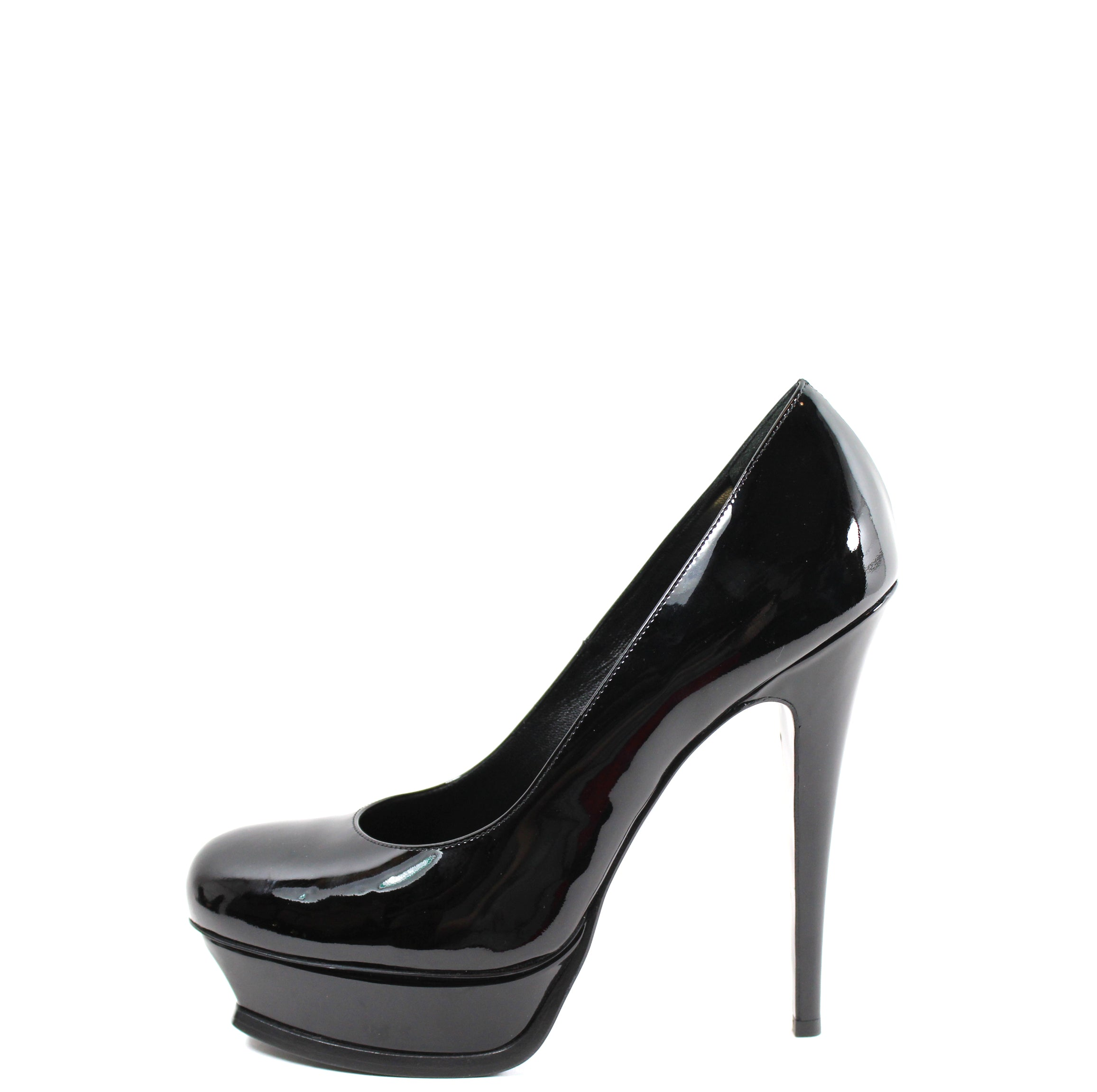 d36750f082d Yves Saint Laurent  Tribute  Black Patent Leather Platform Heels (Size –  Encore Consignment