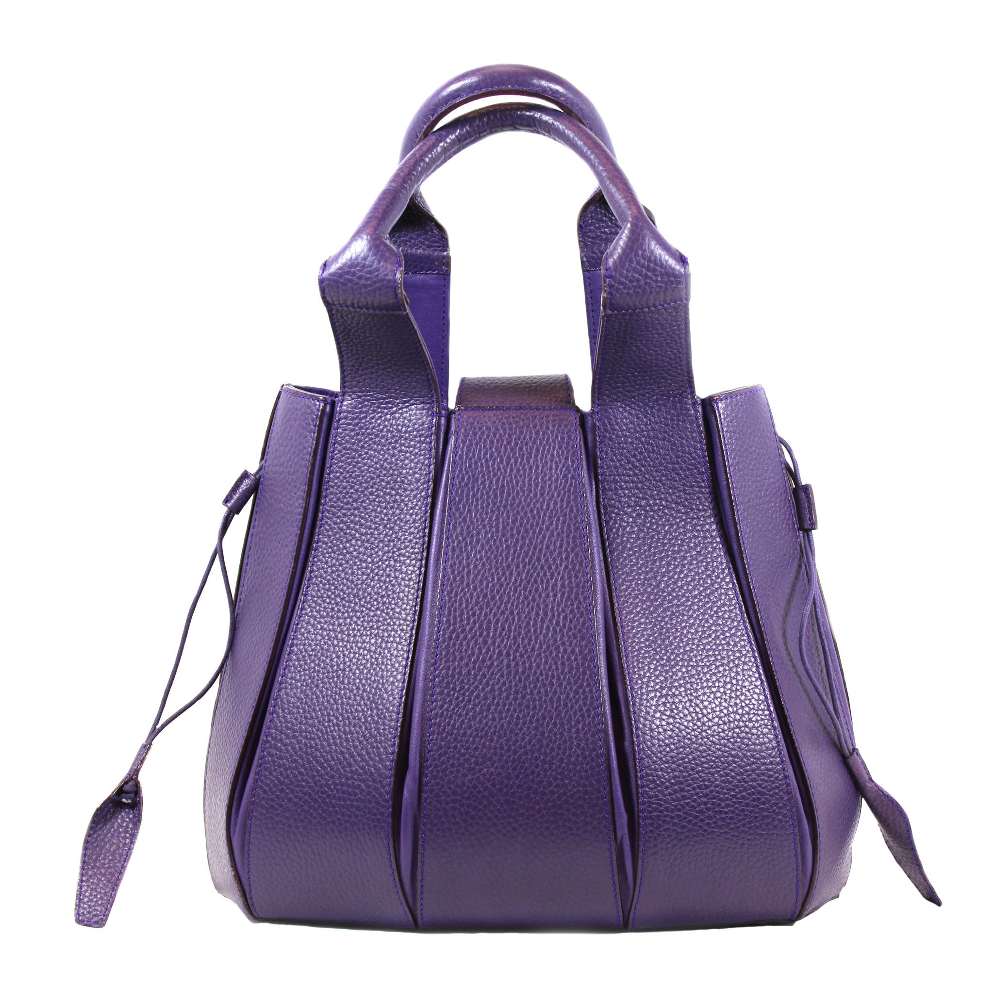 Domenico Vacca 'Julie' Purple Leather Bucket Bag