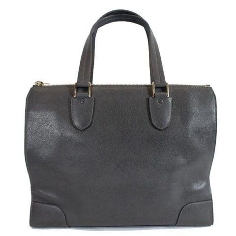 TYLER ALEXANDRA ELLIS Black Grained Leather Gold HW Caroline Medium Tote Bag GUC