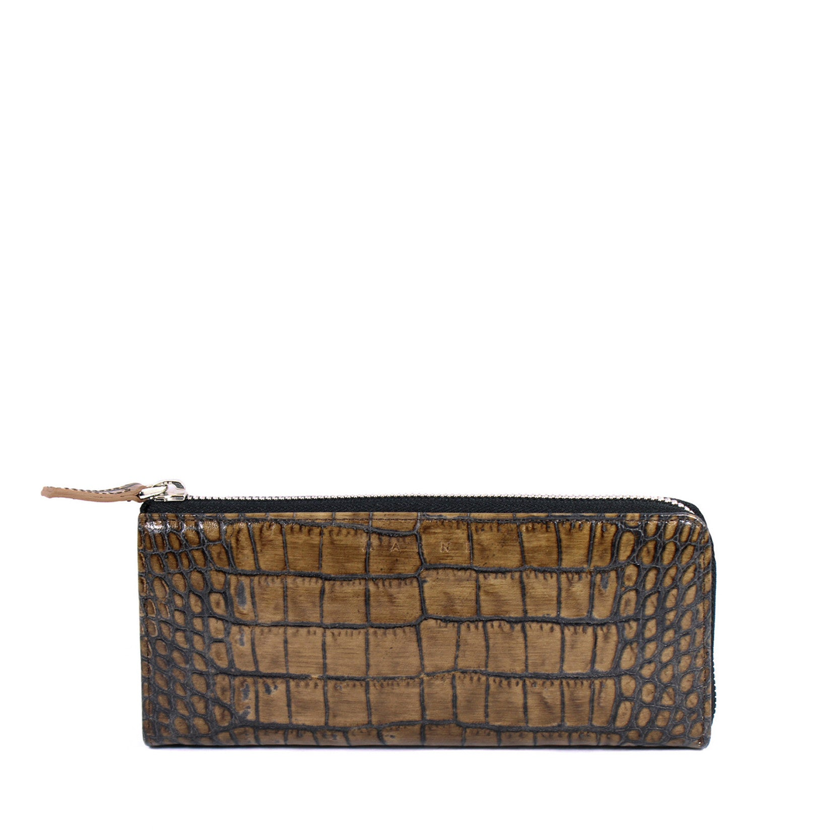 Marni Brown All-around Zipped Leather Wallet - Encore Consignment - 1