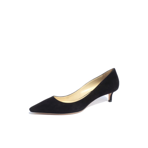 CHRISTIAN DIOR Cherie 8cm Black Leather Pointy Toe Classic Pumps 36.5 Shop Wear