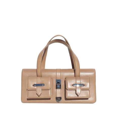 Gucci 'Sukey' GG Canvas and Ivory Leather Tote