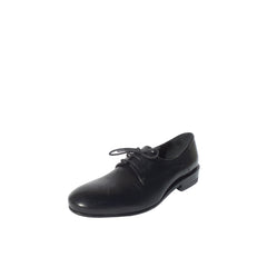 JIL SANDER Black Smooth Leather Lace Up Low Heel Oxford Loafers 38.5