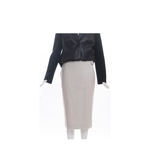 CAROLINA HERRERA Black Persian Lamb Cropped Bolero Shrug Jacket S GUC