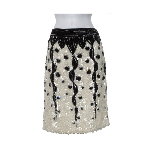 The Row Black Polyester Skirt (Size 0)
