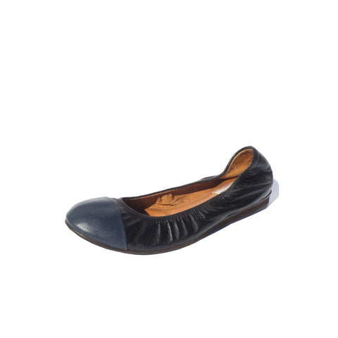 'Sold' GABRIELA HEARST Brucco Midnight Navy Blue Leather Jute Platform Penny Loafers 37