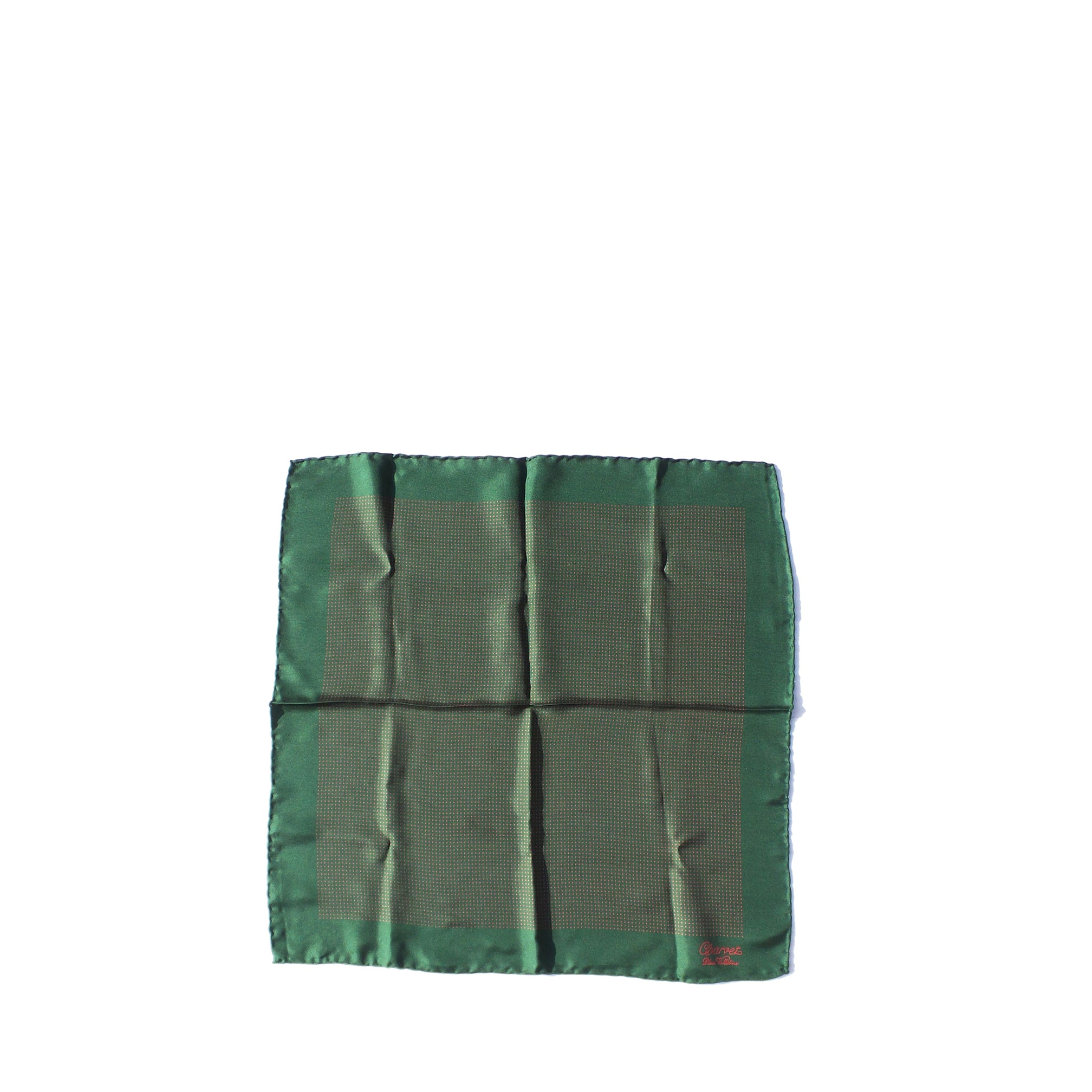 d3b7fc1721c3 'Sold' CHARVET Place Vendome Green Red Polka Dot Silk Twill Pocket Squ –  Encore Resale.com