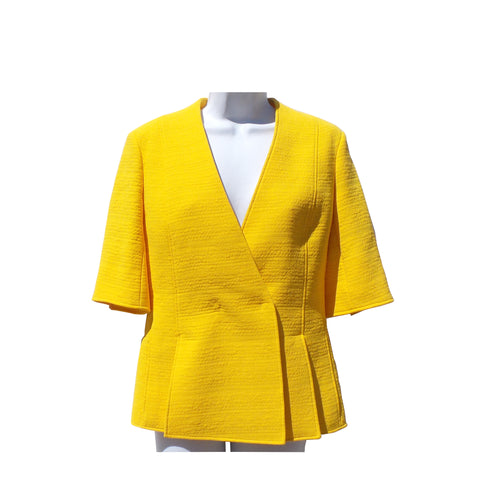 JANE POST Mustard Double Breasted Crinkled Nylon Belted Trench Coat XS $395 NWT